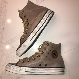 Converse Chuck Taylor sneakers leather zipper 6